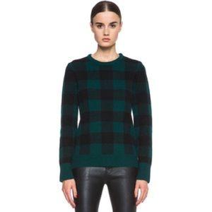 EUC Black Plaid Sweater